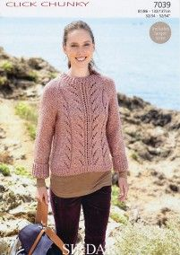 Lady's Sweater in Sirdar Click Chunky (7039)   Deramores