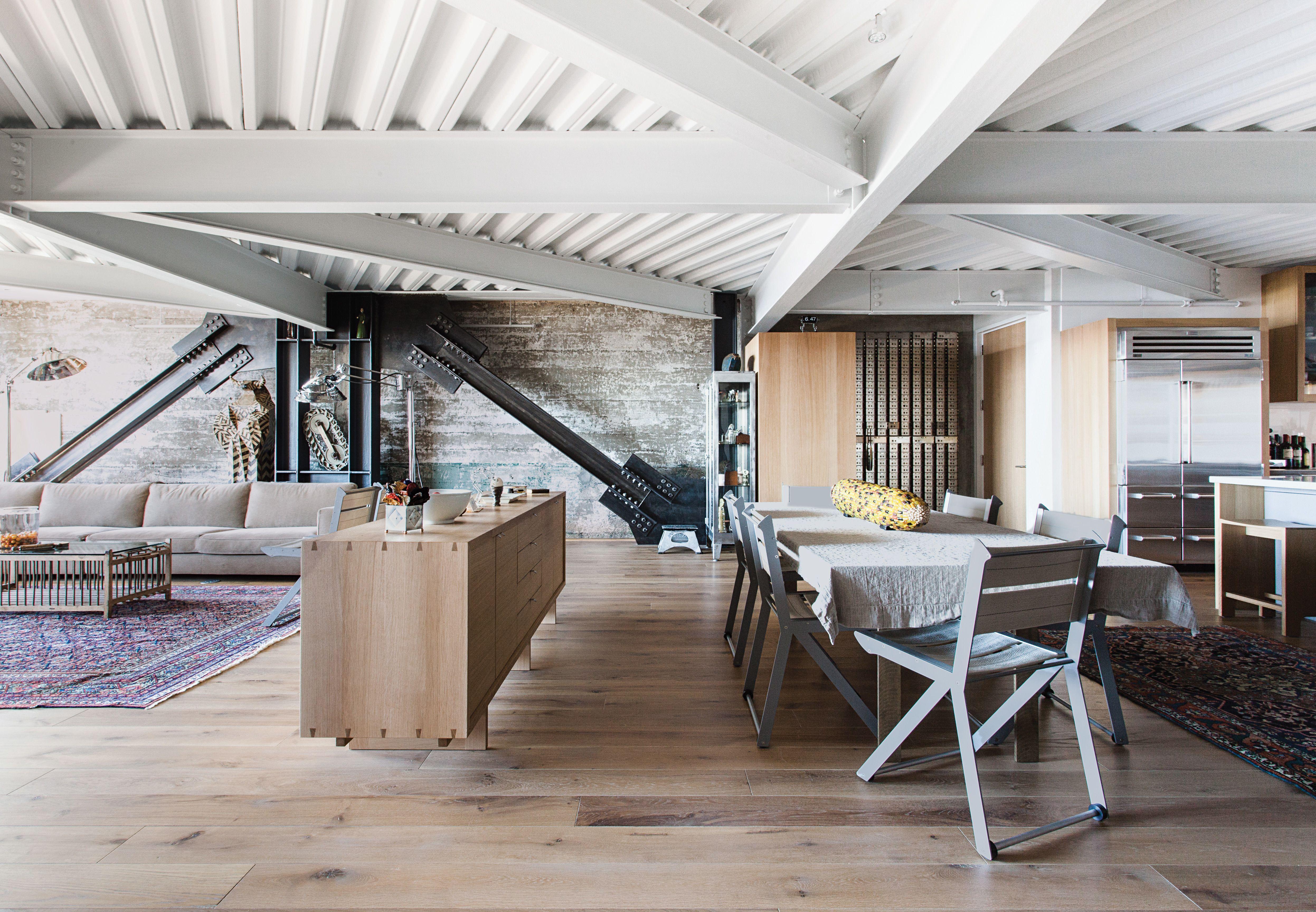 Photo 10 Of 25 In 25 Homes With Exposed Wood Beams Rustic To Modern Wood Beams White Oak Floors Steel Beams