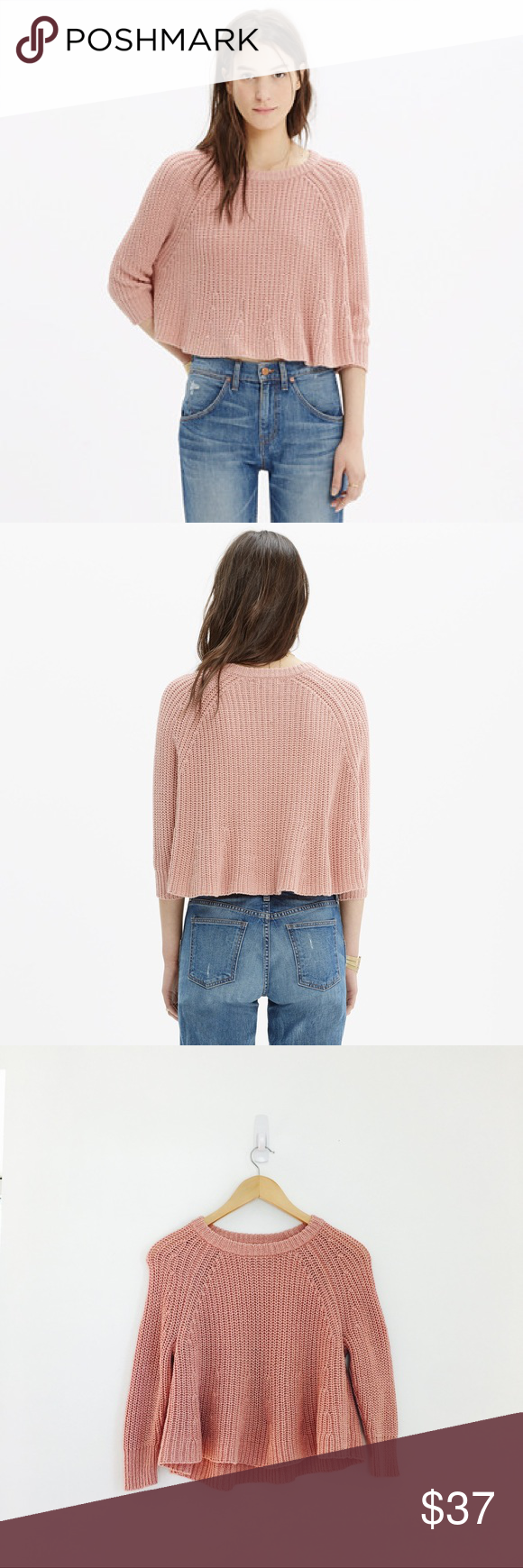 Madewell crop sweater Swing Crop Sweater by Madewell. Cropped ...