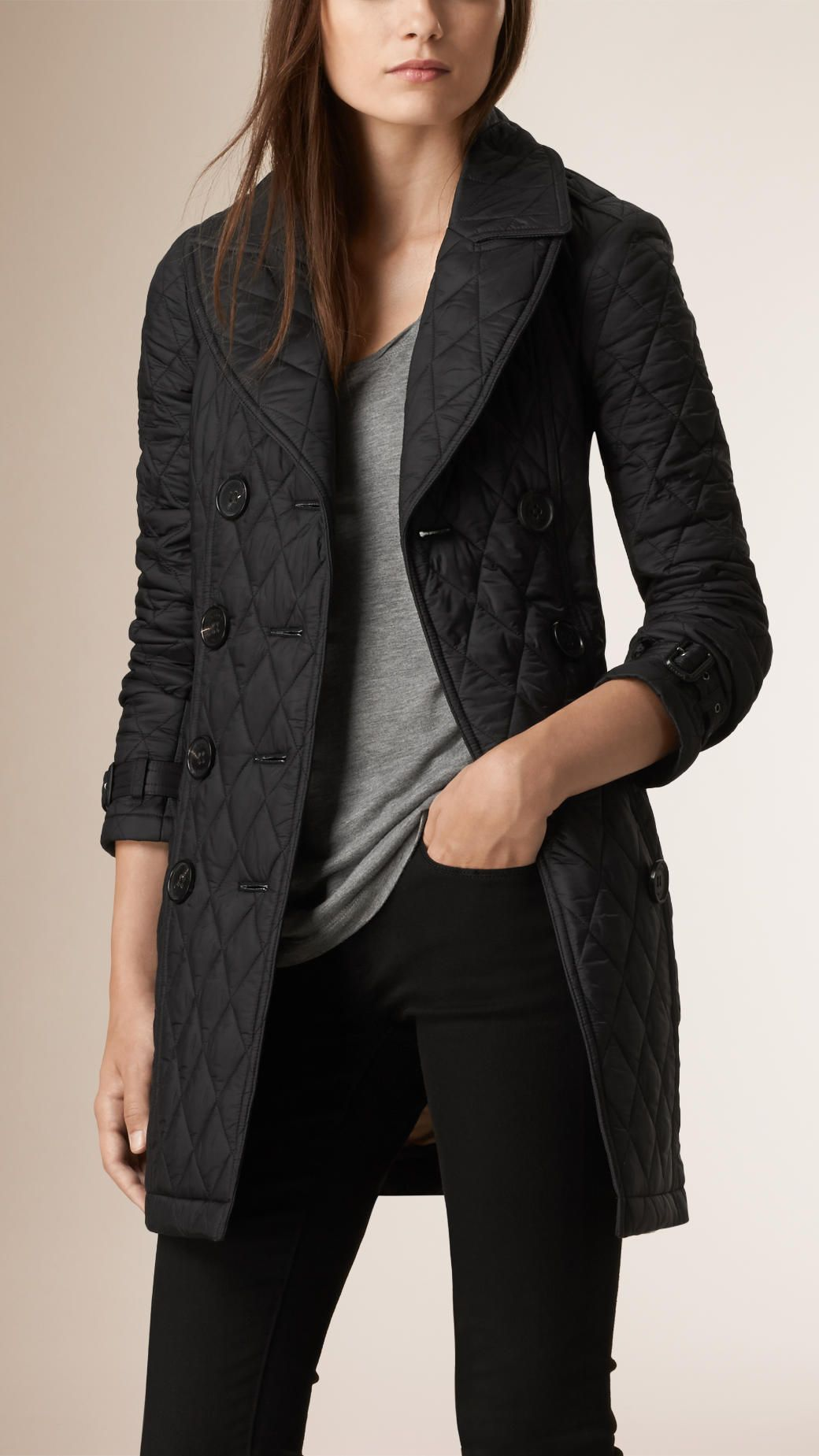 Quilted Trench Coat Trench Coat Black Trench Coat Coat