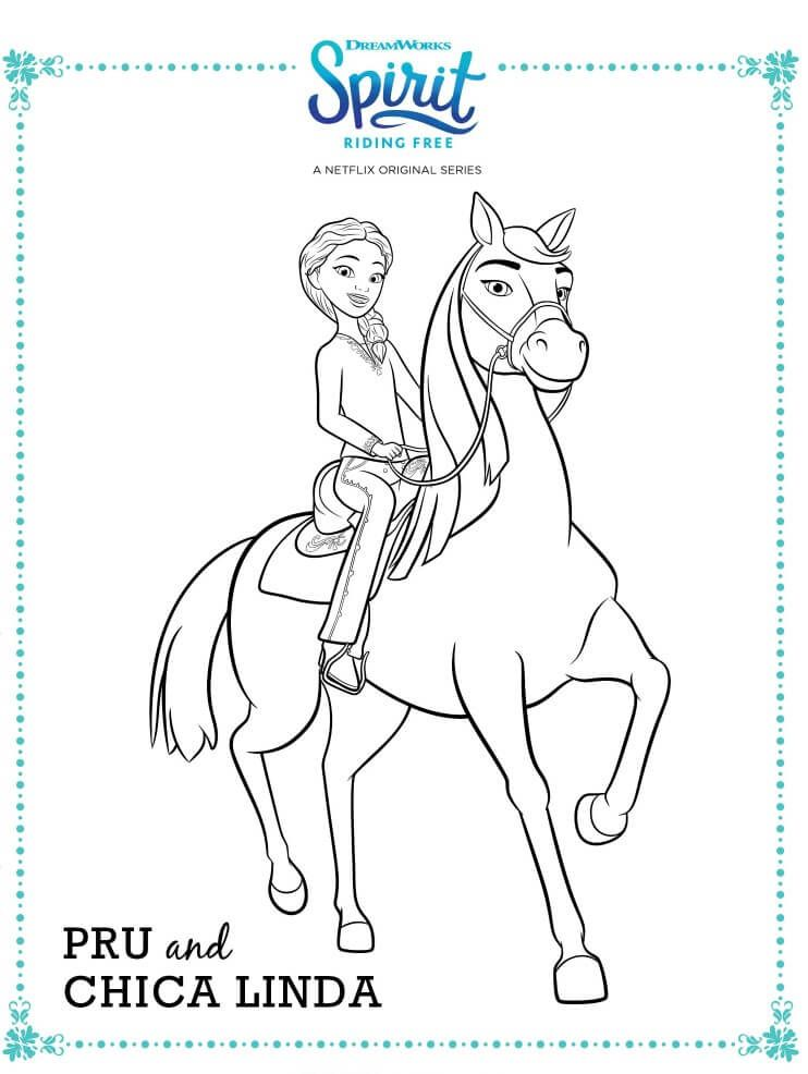 15 Printable Spirit Riding Free Coloring Pages | Chicas ...
