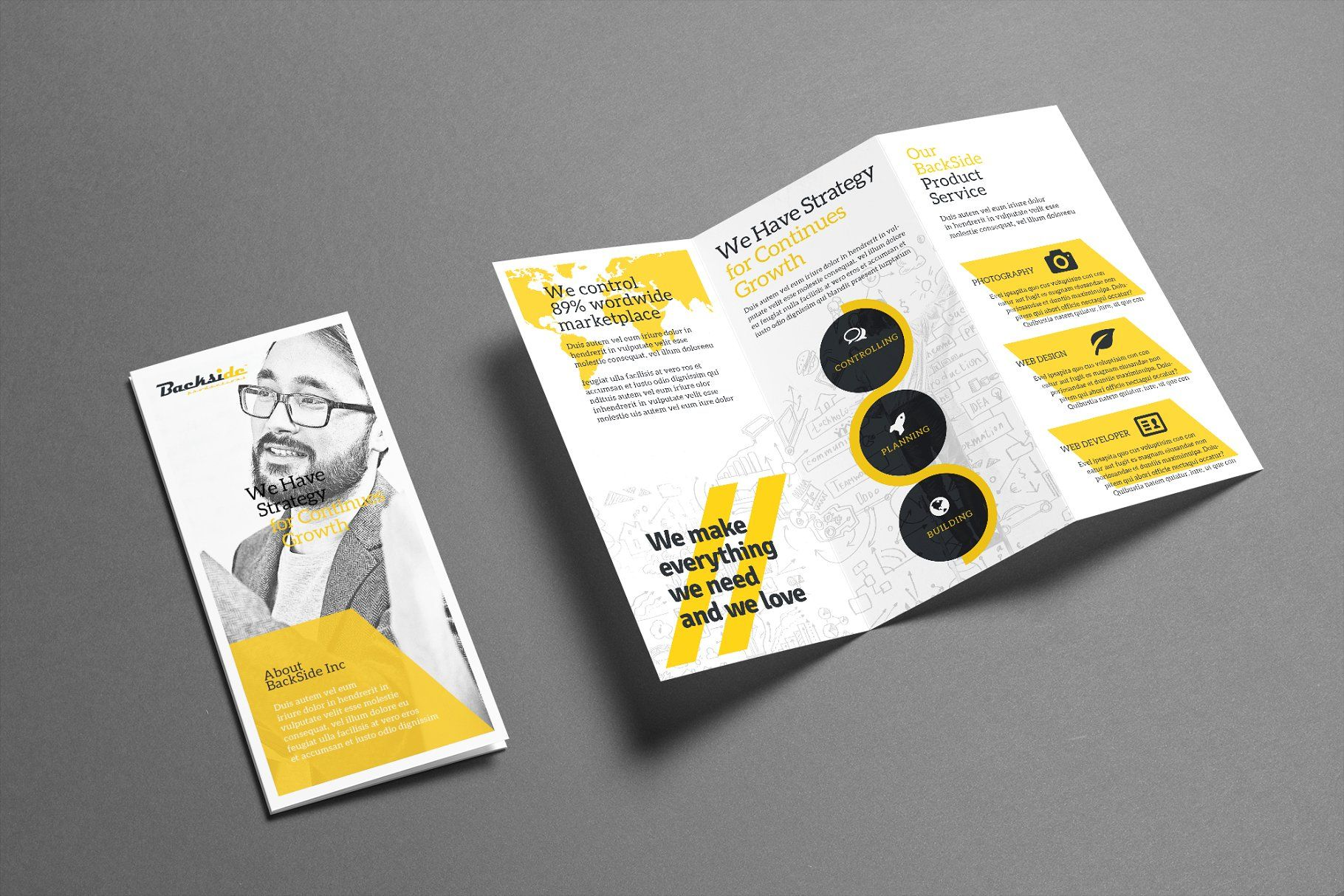 trifold trifold brochure templates aesthetic pinterest