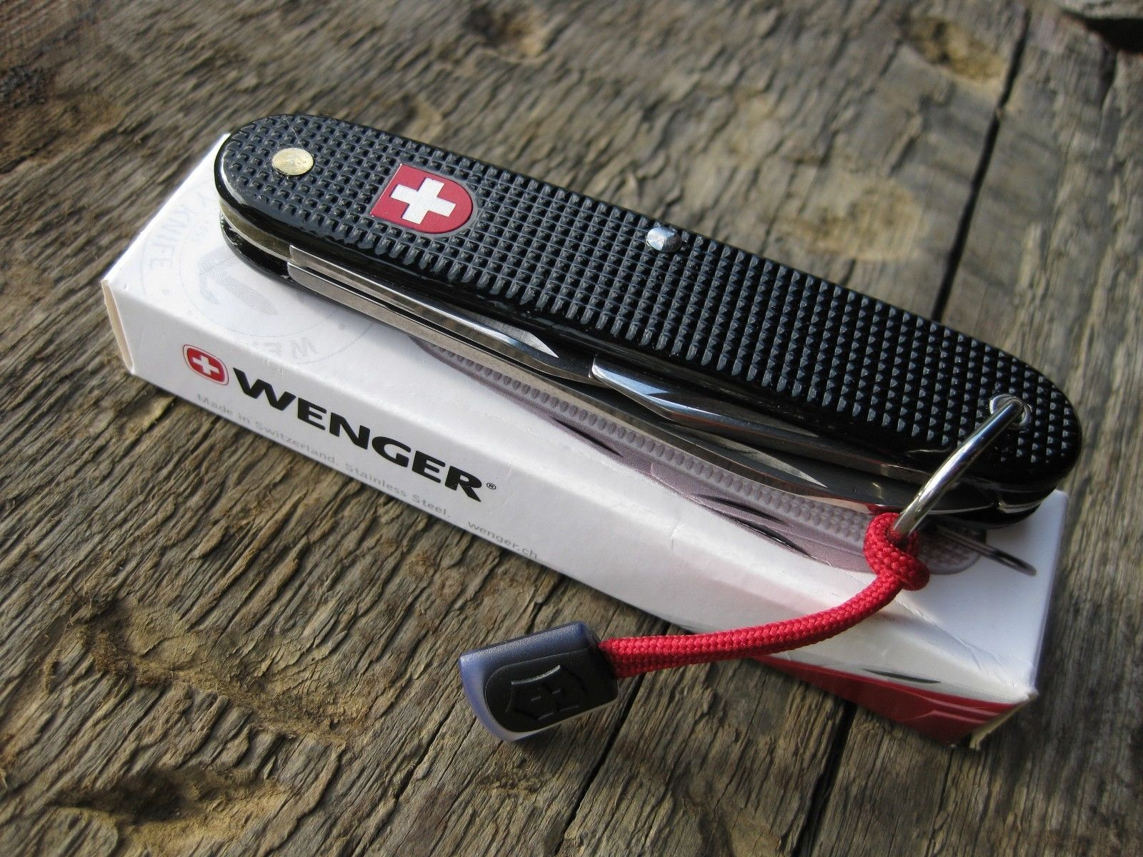 Wenger Black Soldat Soldier Swiss Army Knife Alox