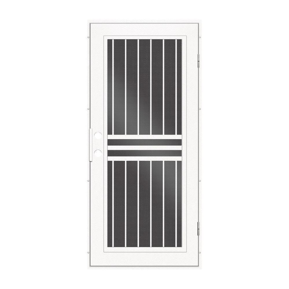 Unique Home Designs 36 in. x 80 in. Plain Bar White Right-Hand ...