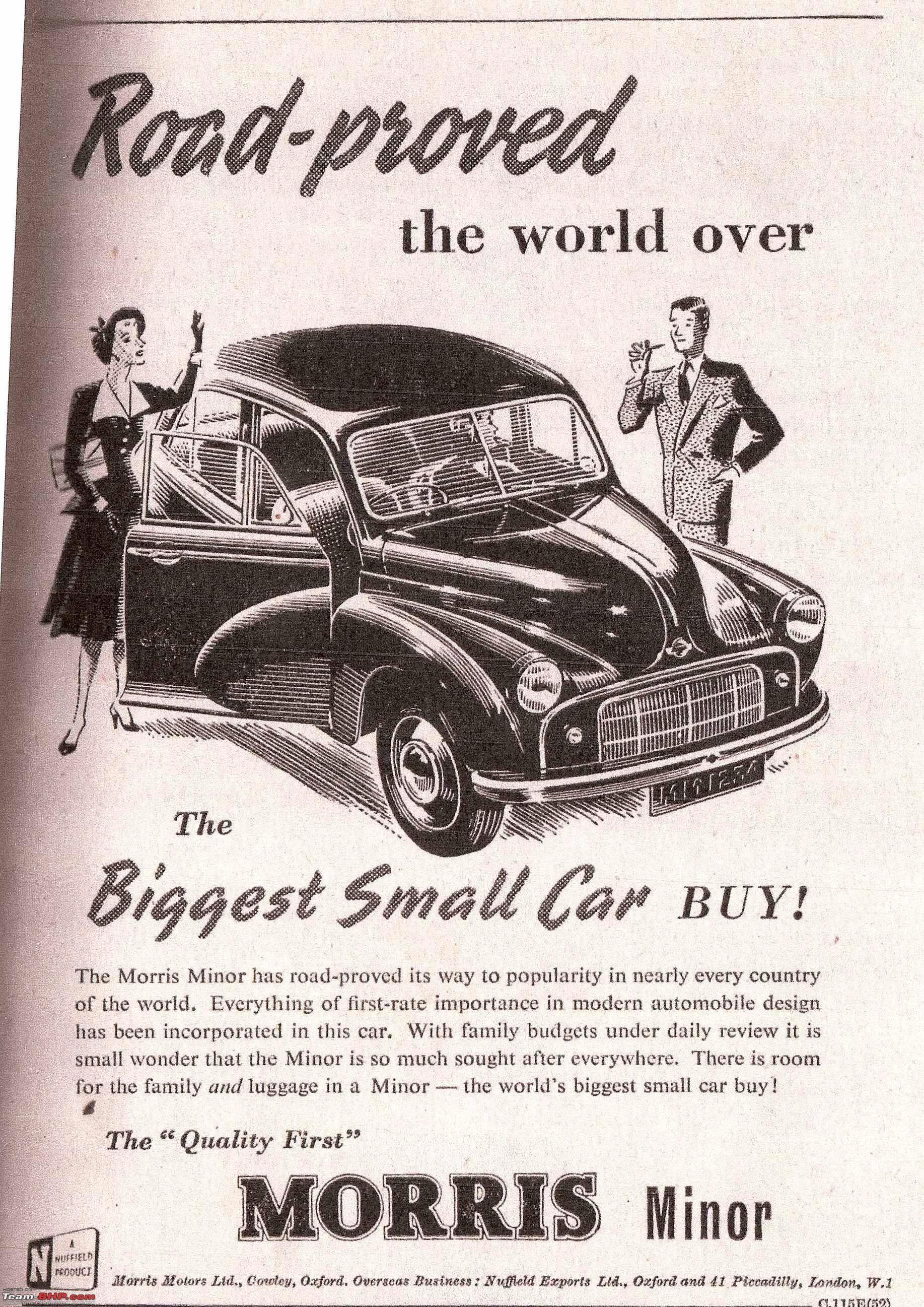 Morris Minor, The Biggest Small Car Buy!, July 1952. (Original ...