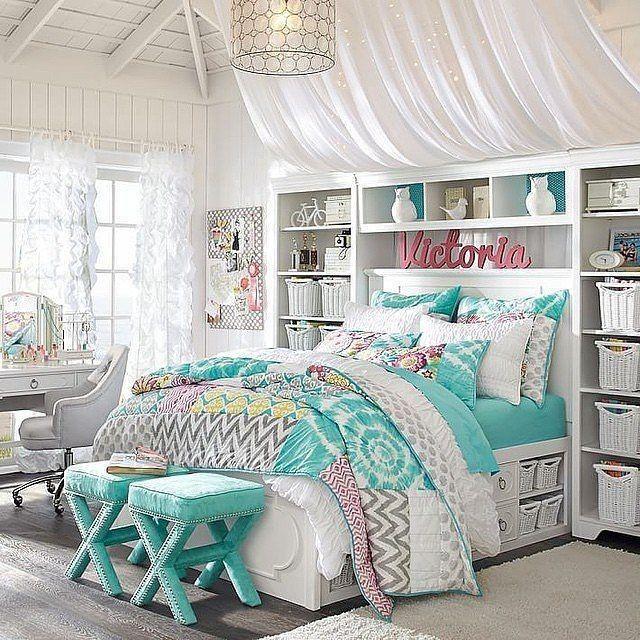 Schlafzimmer-Design-Ideen für Teenager-Mädchen (mit ...