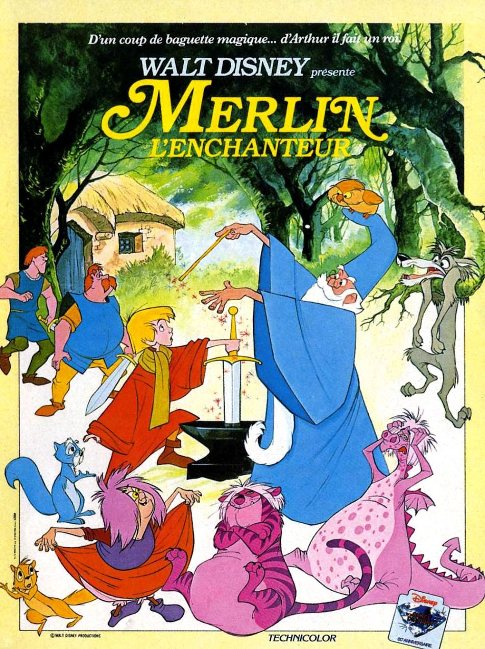 Merlin L Enchanteur 1963 Affiches De Films De Disney Dessin Anime Dessin Anime Enfance