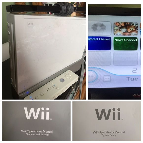 Nintendo Wii System Nintendo Wii system Comes with power cord - operation manual