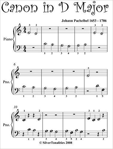 Canon In D Pachelbel Beginner Piano Sheet Music Kindle Edition