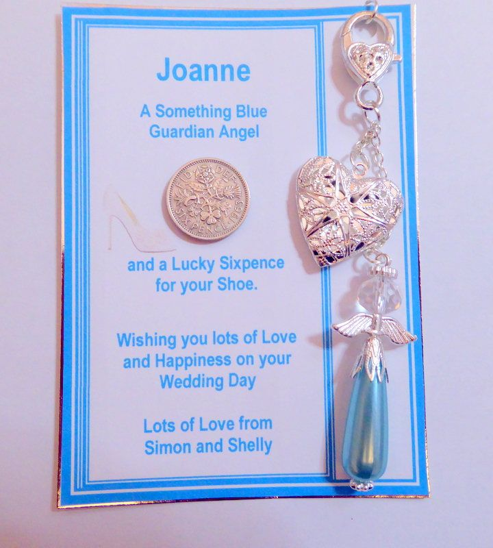 Something blue bouquet charm garter charm purse charm lucky keepsake gift for bride