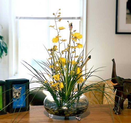 Dried Floral Arrangements Ideas Vases And Artificial Flowers