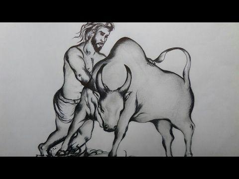 Pencil Drawing For Jallikattu Youtube Sachjee In 2019