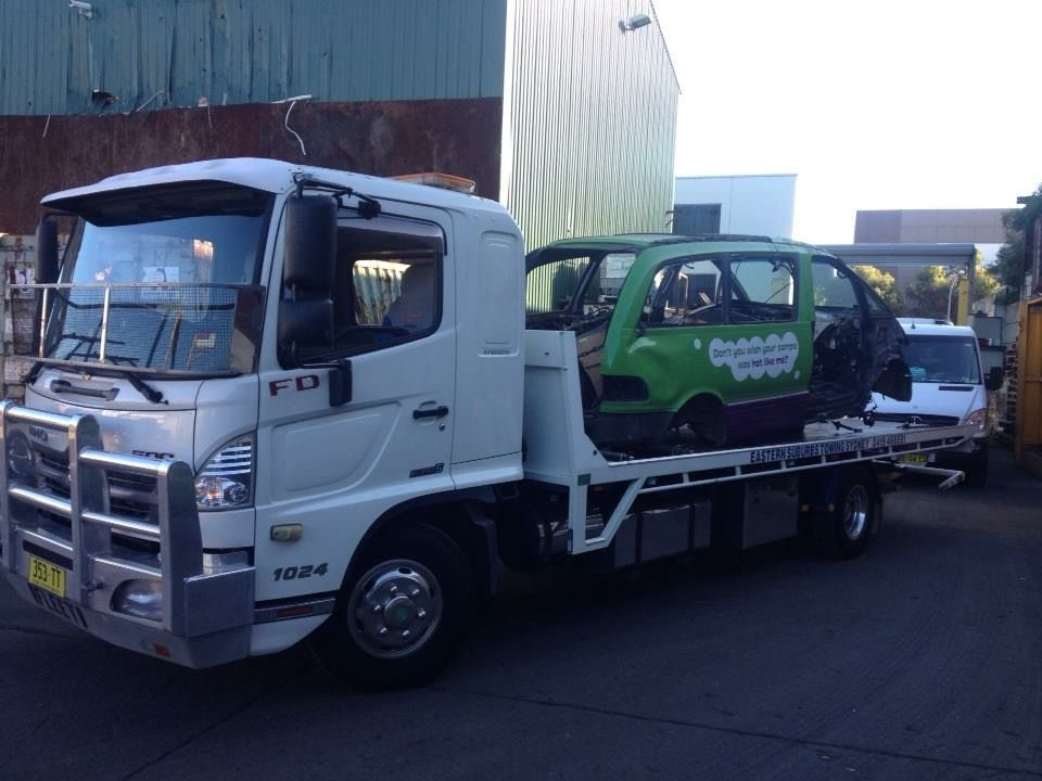 Towing an #Unwanted #car from #Botany to scrap metal yard in ...