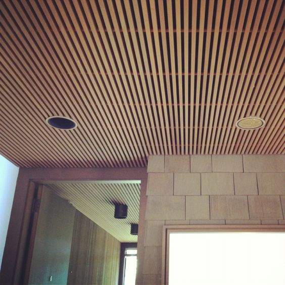 Image Result For Linear Wood Ceiling Detail
