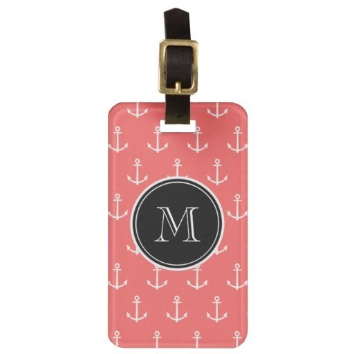 ==>>Big Save on          	Coral White Anchors Pattern, Black Monogram Tag For Luggage           	Coral White Anchors Pattern, Black Monogram Tag For Luggage we are given they also recommend where is the best to buyShopping          	Coral White Anchors Pattern, Black Monogram Tag For Luggage l...Cleck Hot Deals >>> http://www.zazzle.com/coral_white_anchors_pattern_black_monogram_luggage_tag-256029281350034156?rf=238627982471231924&zbar=1&tc=terrest