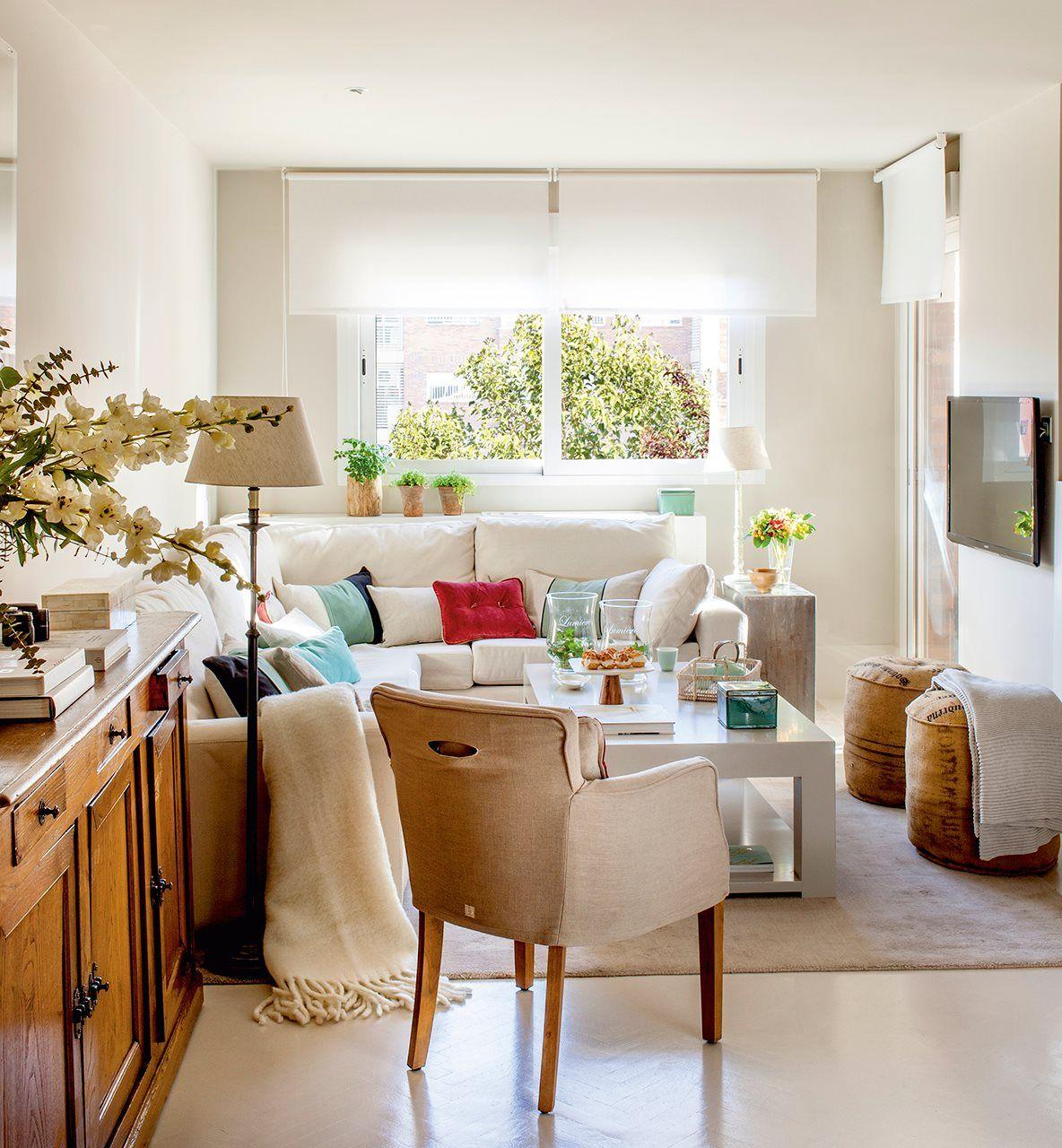 10 salones peque os con ideas geniales small space - Ideas salones pequenos ...