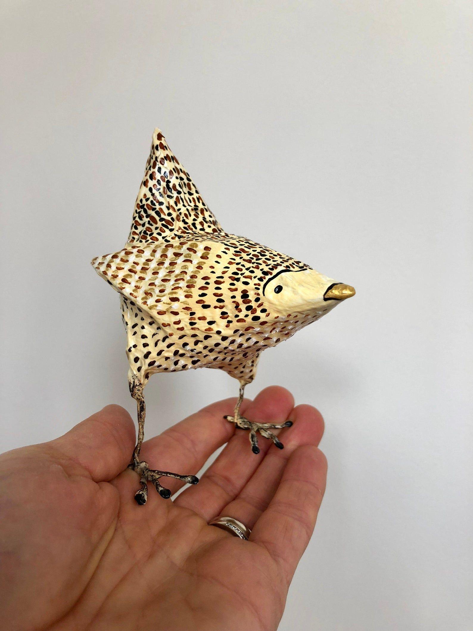 Paper mache bird sculpture / Paper mache animal / Small bird / Bird / Original art / Sculpture / Gift / Decor #smallbirds