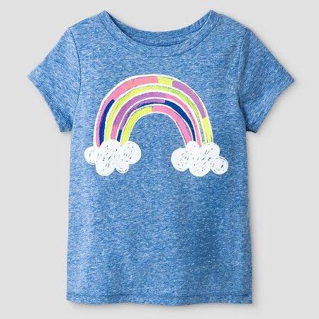 546af827f09 Toddler Girls  Rainbow Short Sleeve Graphic T-Shirt Blue - Cat and Jack™    Target