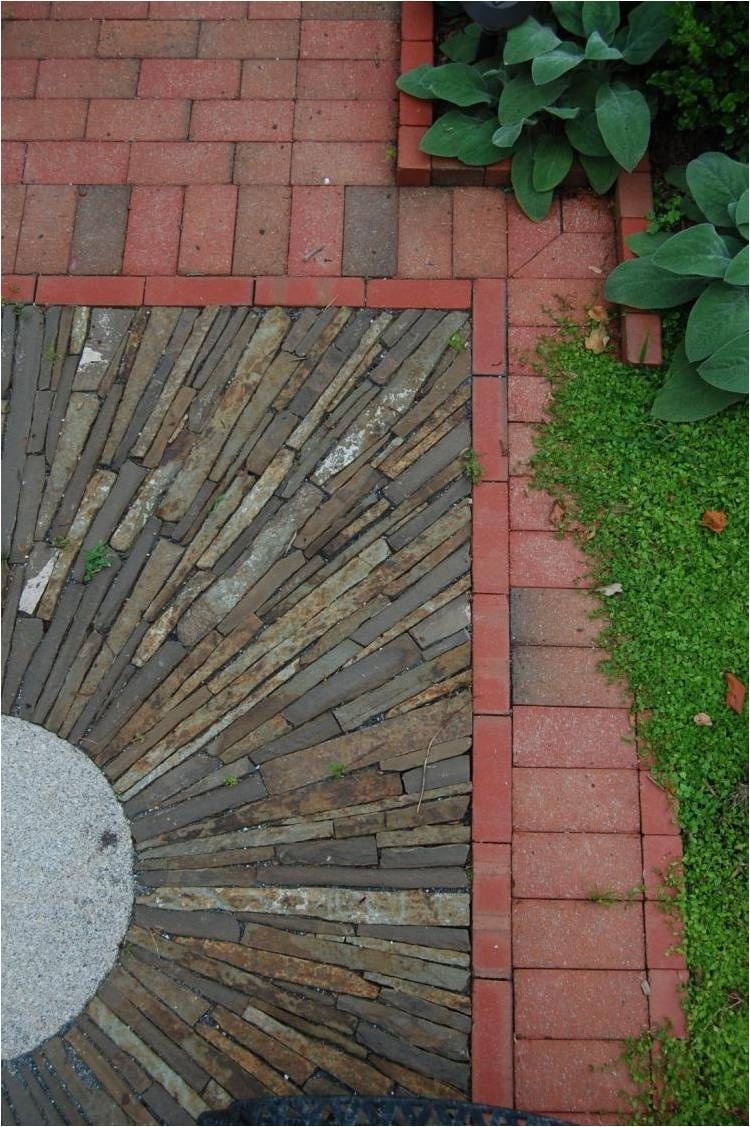 Detail of stone on edge paving.  By Thomas Rainer
