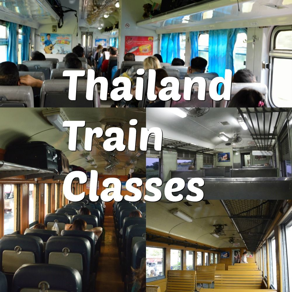 Different train classes in thailand seats sleeper trains