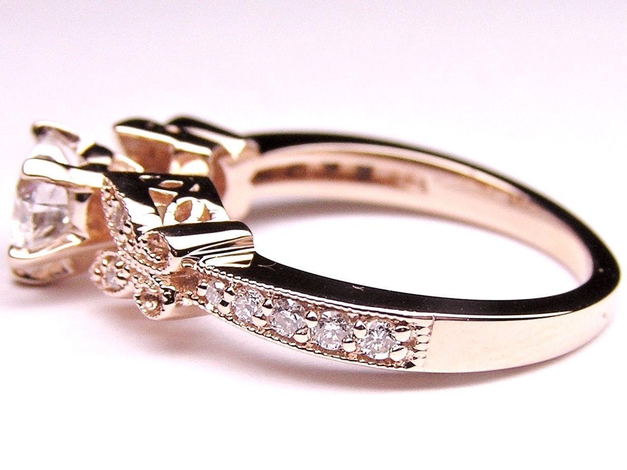 Engagement Ring Heart Shape Diamond Butterfly Vin