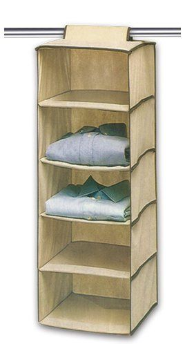 Ziz Home Hanging Clothes Storage Box 5 Shelving Units Durable Accessory Shelves Eco Friendly Closet Cubby Sweater Handbag Organizer Keep Your