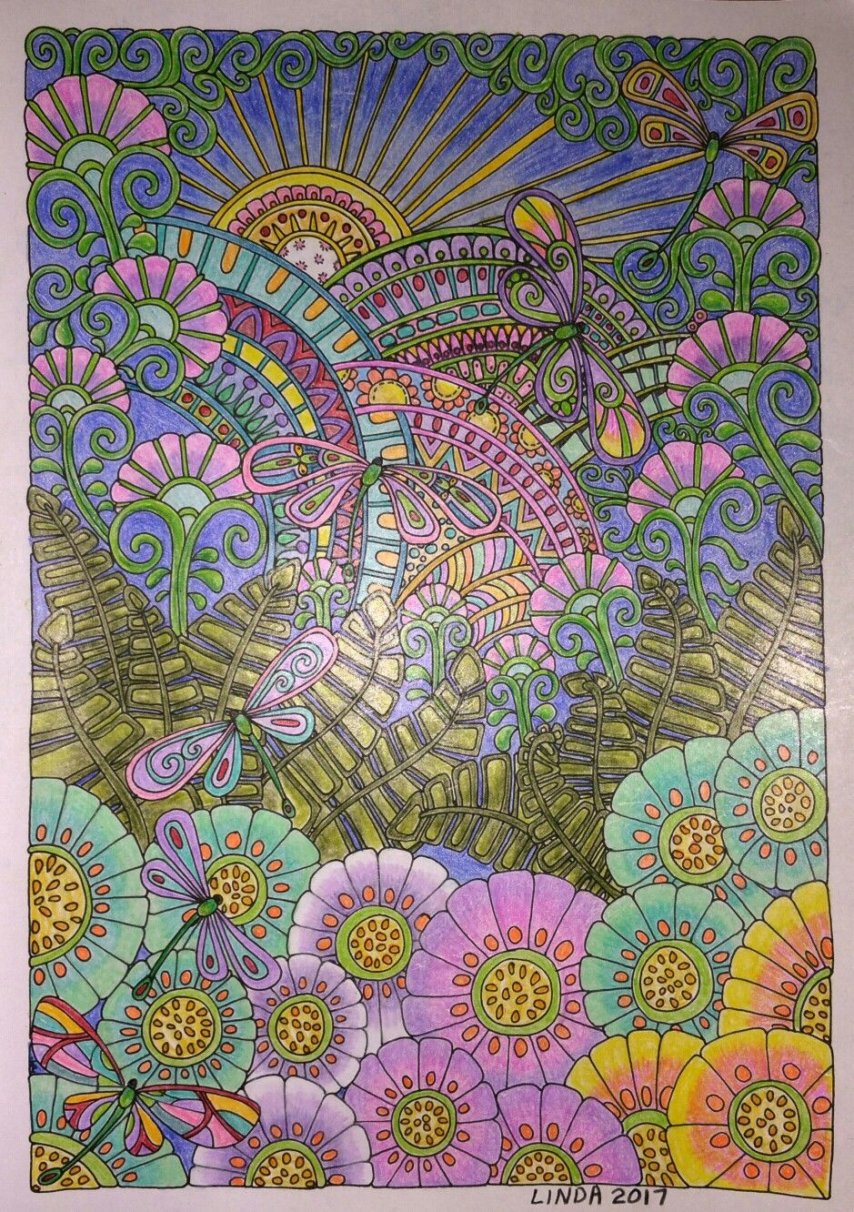 CREATIVE HAVEN Entangled Dragonflies colored by Linda   Favoritos ...