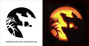 Image result for wolf pumpkin carving patterns halloween ideas