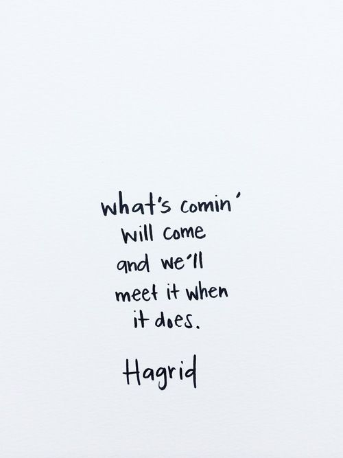 We'll meet it when it does. // via @therefinedwoman