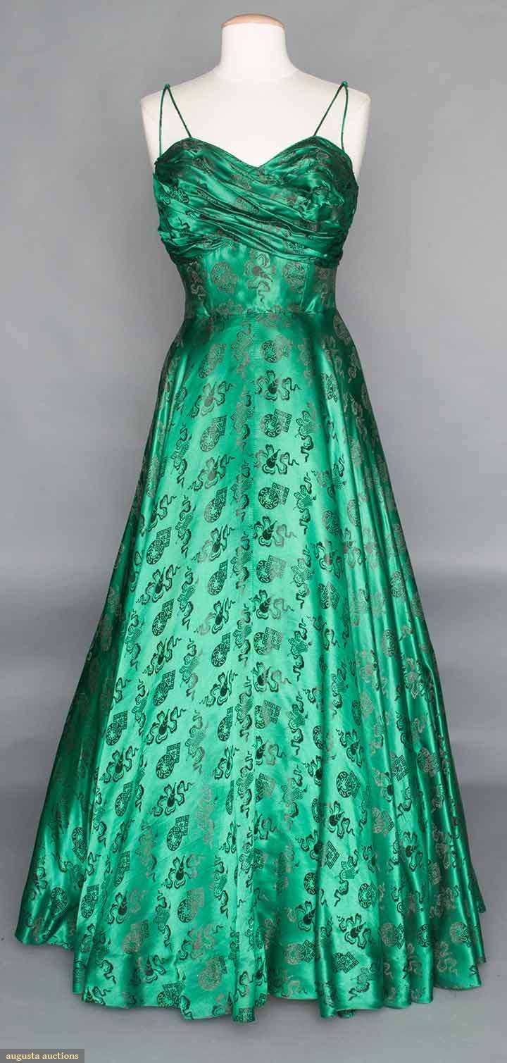 Evening gown late s silk charmeuse augusta auctions
