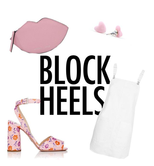 """""""block heels"""" by geopaganeli on Polyvore featuring Prada, Topshop and Kendall + Kylie"""