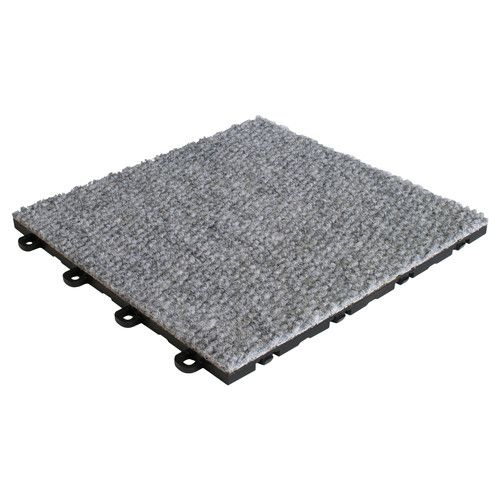 Blocktile 12 X 12 Premium Interlocking Basement Floor Carpet Tile In Gray Carpet Tiles Floor Carpet Tiles Carpet Tiles For Basement