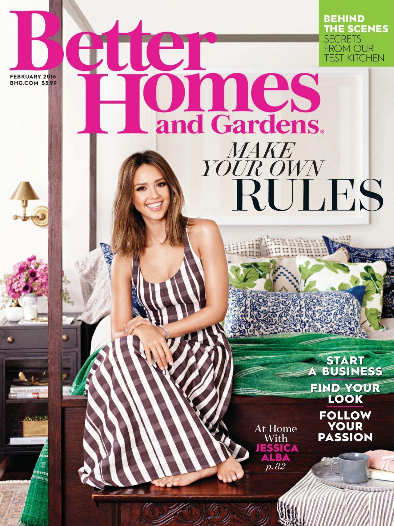 High Quality Jessica Alba   Better Homes And Gardens Magazine February 2016 Issue Ideas