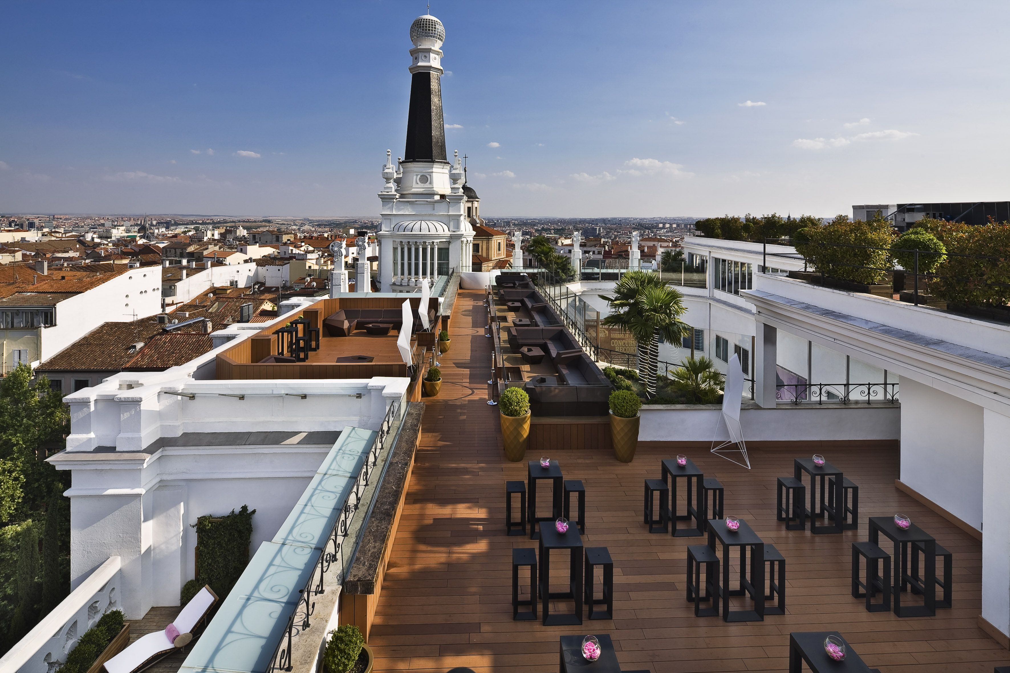 Spectacular Panoramic Views Of Madrid From The Roof Terrace One Of The Top 10 Bars In Spain Madrid Hotels Boutique Hotel Madrid Madrid Restaurants