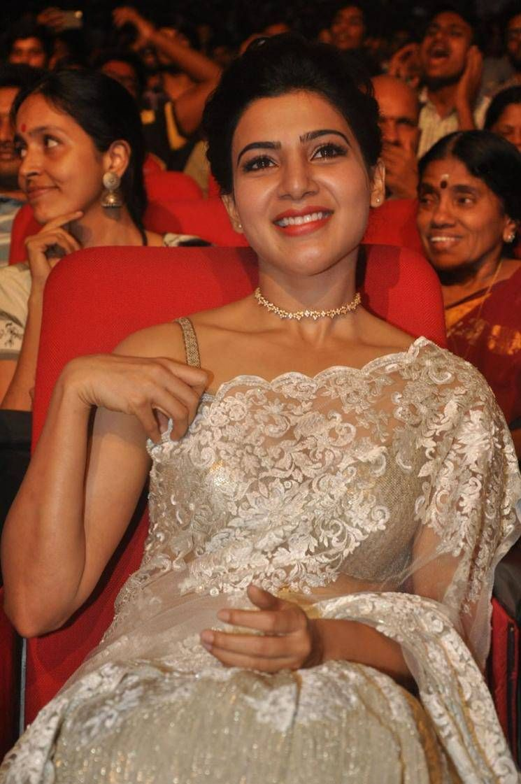 24 Movie Indian Actress Samantha Images In White Saree At Telugu Movie