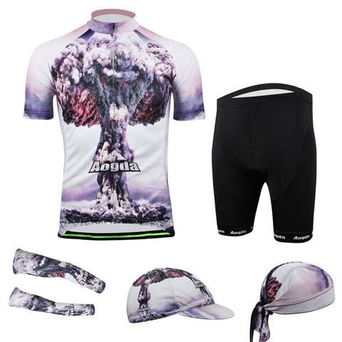 Men's Purple Short Sleeve Cycling Jersey Full Set #Cycling #CyclingGear #CyclingJersey #CyclingJerseySet