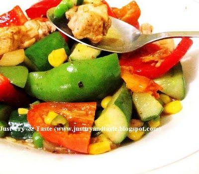 Resep Tumis Ayam Sayuran Kaya Rempah Tumis Lauk Sayuran Makanan Sehat