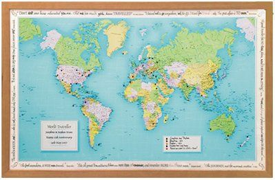 Travel map lets see the world pinterest travel maps framed personalised world traveller map record the places youve visited with this personalised world traveller map available to buy now from prezzybox gumiabroncs Images