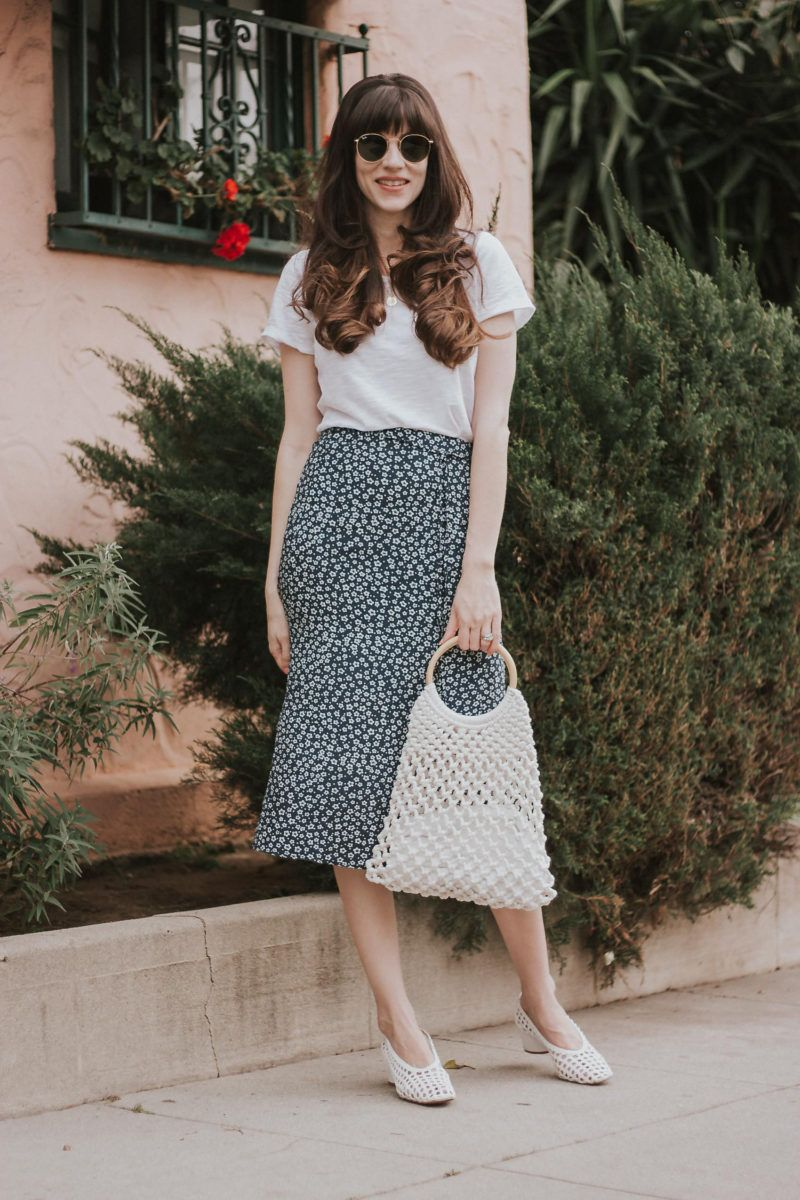 6c2f703d0723 French Fashion and Floral Midi Skirts + Link Up | Jeans and a Teacup ...