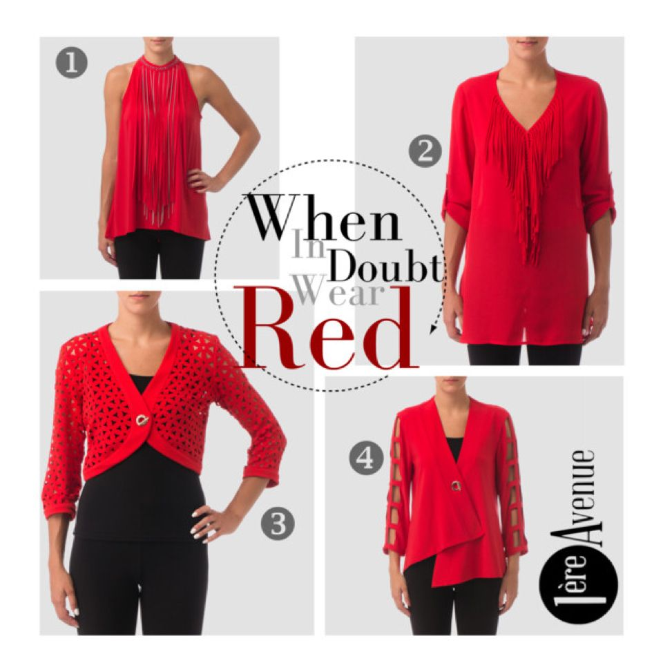 Girls' Night Out - Wear Red by Joseph Ribkoff.