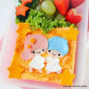 Another french toast bento. Today's characters are Kiki and Lala from Little Twin Stars! You might have seen something similar in my earlier bento creation. I taught this for a Little Twin Stars Bento private group workshop. They saw my bento and requested for a similar design.  This Little Twin Stars characters were made from Continue Reading