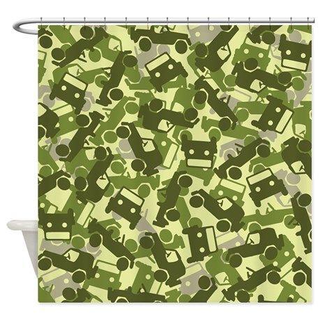 jeep camo shower curtain on cafepress