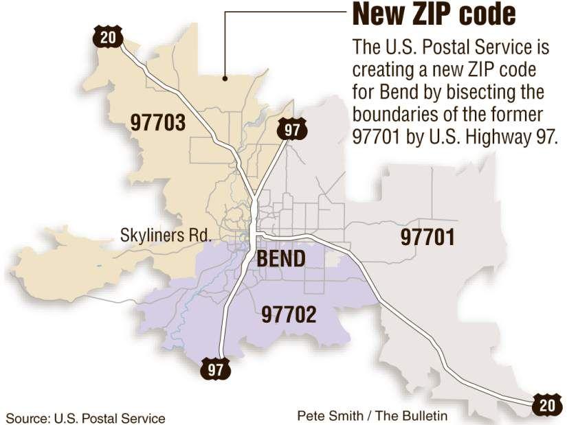 Bend Oregon Zip Code Map Bend to get new Zip code: 97703 | Coding, Zip code, News