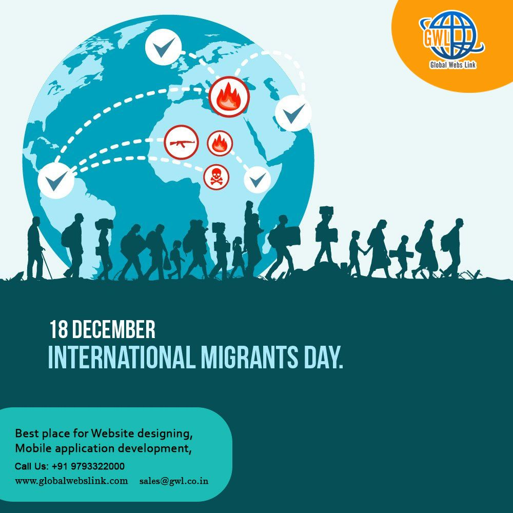 The Total Number Of International Migrants Has Increased From An Estimated 175 Million In International Migrants Day Internet Marketing Company Website Design