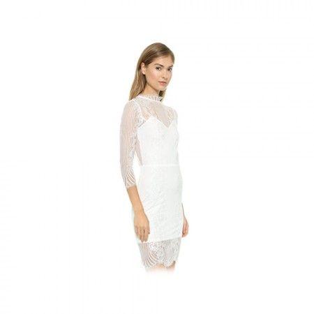 White Hot Styling | For Love & Lemons Rosette Dress | #howtowearwhite #summerwhites #sheerdress