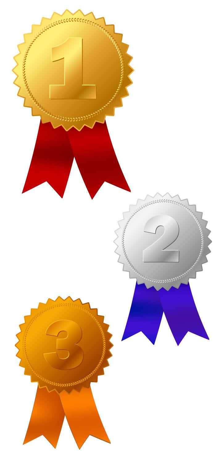 金・銀・銅メダルの無料イラスト   会社プレゼン用   pinterest