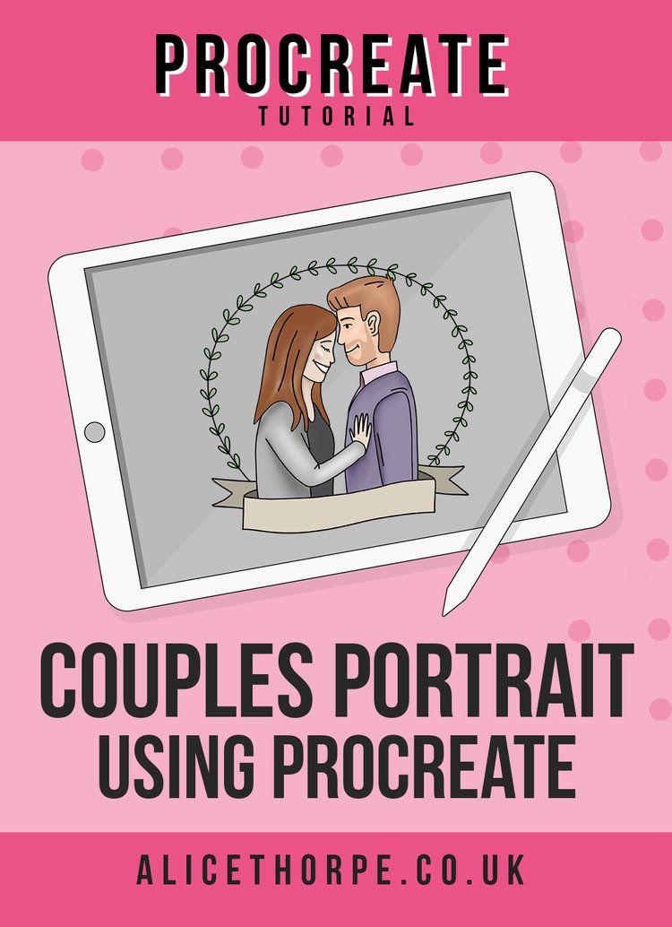 Cartoon couples portrait using procreate procreate
