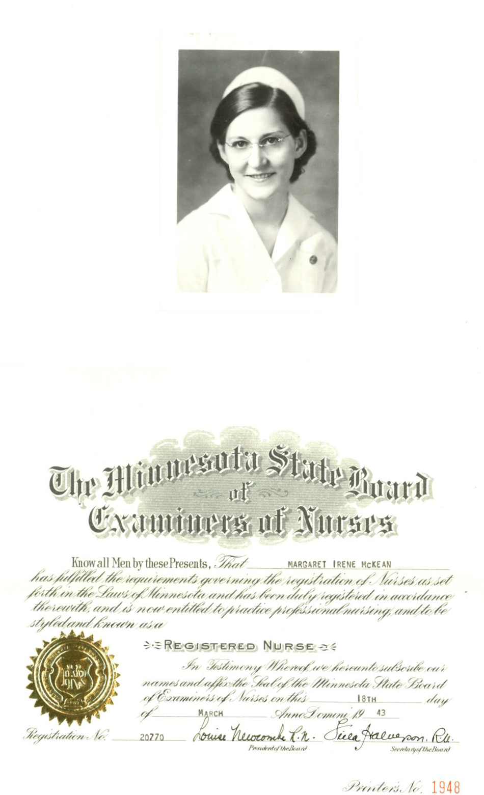 Irene McKean was born in Rosenberg,Texas and graduated