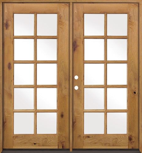 Discount 10 Lite Tdl Knotty Alder French Doors Low E Discount Interior Doors Double Doors Interior Prehung Interior French Doors