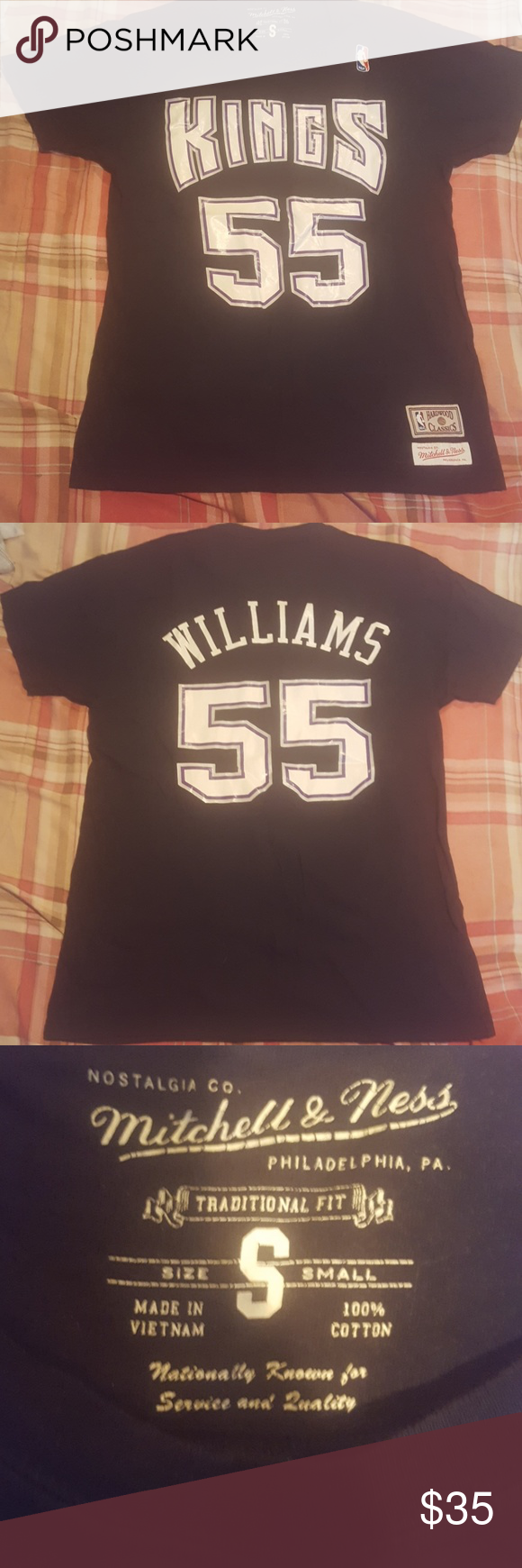 sports shoes 90dde 87366 Jason Williams T-shirt Black Kings Size Small Mens Mitchell ...